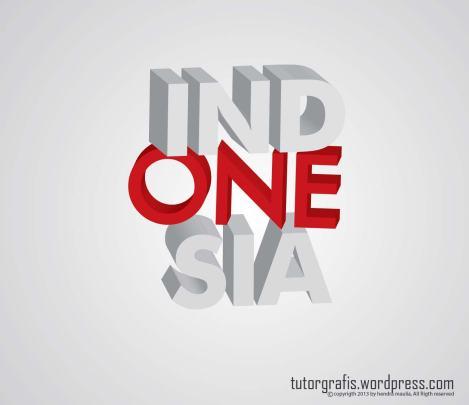 indonesia 3d teks tutorgrafis-01